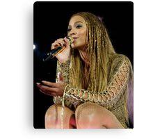 Beyoncé Knwoles with Braids Canvas Print