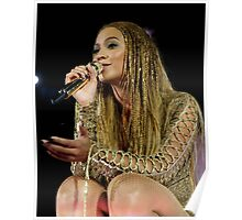 Beyoncé Knwoles with Braids Poster