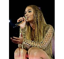 Beyoncé Knwoles with Braids Photographic Print