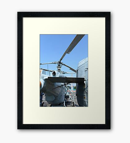 military helicopter Framed Print