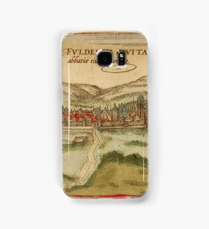 Fulda Vintage map.Geography Germany ,city view,building,political,Lithography,historical fashion,geo design,Cartography,Country,Science,history,urban Samsung Galaxy Case/Skin