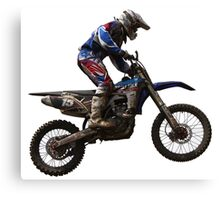 Motocross Action Canvas Print