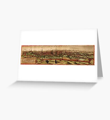 Leuven Vintage map.Geography Belgium ,city view,building,political,Lithography,historical fashion,geo design,Cartography,Country,Science,history,urban Greeting Card