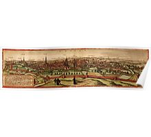 Leuven Vintage map.Geography Belgium ,city view,building,political,Lithography,historical fashion,geo design,Cartography,Country,Science,history,urban Poster