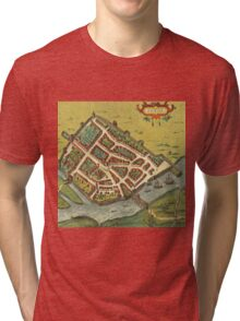 Galway Vintage map.Geography Irland ,city view,building,political,Lithography,historical fashion,geo design,Cartography,Country,Science,history,urban Tri-blend T-Shirt