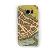 Galway Vintage map.Geography Irland ,city view,building,political,Lithography,historical fashion,geo design,Cartography,Country,Science,history,urban Samsung Galaxy Case/Skin