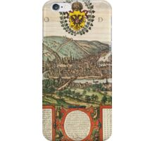 Liege Vintage map.Geography Belgium ,city view,building,political,Lithography,historical fashion,geo design,Cartography,Country,Science,history,urban iPhone Case/Skin