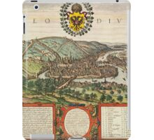 Liege Vintage map.Geography Belgium ,city view,building,political,Lithography,historical fashion,geo design,Cartography,Country,Science,history,urban iPad Case/Skin