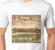 Gennep Vintage map.Geography Netherlands ,city view,building,political,Lithography,historical fashion,geo design,Cartography,Country,Science,history,urban Unisex T-Shirt