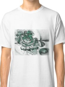 Glossy Green Bloom - Abstract Fractal Artwork Classic T-Shirt