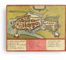 Limerick Vintage map.Geography Irland ,city view,building,political,Lithography,historical fashion,geo design,Cartography,Country,Science,history,urban Metal Print