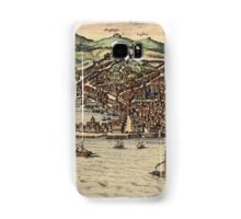 Genova Vintage map.Geography Switzerland ,city view,building,political,Lithography,historical fashion,geo design,Cartography,Country,Science,history,urban Samsung Galaxy Case/Skin