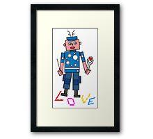 Roboter Love Framed Print