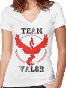 Team Valor - Pokemon GO! Women's Fitted V-Neck T-Shirt