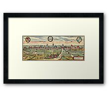 Lippstadt Vintage map.Geography Germany ,city view,building,political,Lithography,historical fashion,geo design,Cartography,Country,Science,history,urban Framed Print