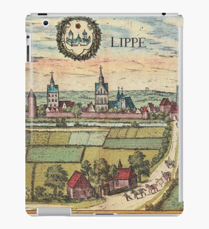 Lippstadt Vintage map.Geography Germany ,city view,building,political,Lithography,historical fashion,geo design,Cartography,Country,Science,history,urban iPad Case/Skin