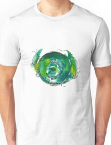 little worlds - yellow and green Unisex T-Shirt