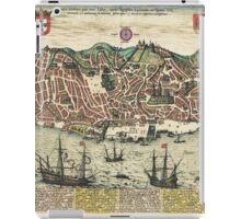 Lisbon2 Vintage map.Geography Portugal ,city view,building,political,Lithography,historical fashion,geo design,Cartography,Country,Science,history,urban iPad Case/Skin