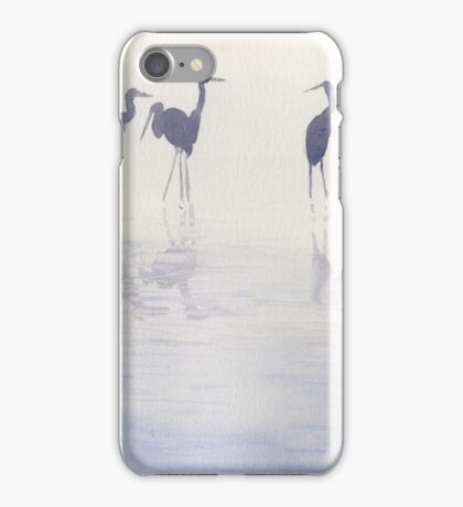 Echassiers dans la brume iPhone Case/Skin