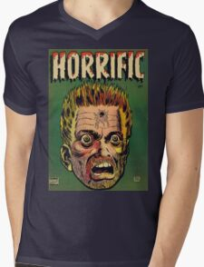 Horrific Tales dead soldier cover Mens V-Neck T-Shirt