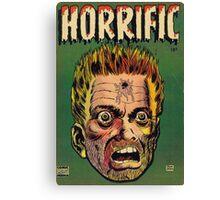Horrific Tales dead soldier cover Canvas Print