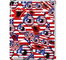 over crowded USA smileys iPad Case/Skin