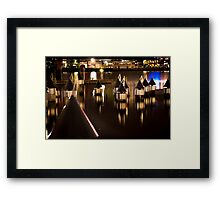 Decorated Pylons Framed Print