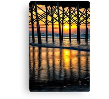 Sunrise on Folly Beach Canvas Print