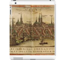 Lubeck Vintage map.Geography Germany ,city view,building,political,Lithography,historical fashion,geo design,Cartography,Country,Science,history,urban iPad Case/Skin
