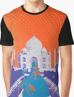 Psychedelic Taj Mahal Concert Poster Graphic T-Shirt