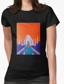 Psychedelic Taj Mahal Concert Poster Womens Fitted T-Shirt
