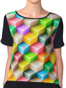Colorful polygons Chiffon Top