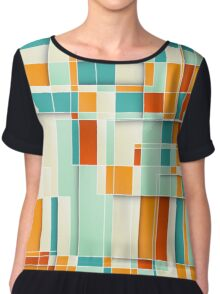 Colorful Geometric Background Chiffon Top