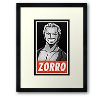 (ONE PIECE) Roronora Zorro Framed Print