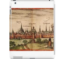 Lunenburg Vintage map.Geography Germany ,city view,building,political,Lithography,historical fashion,geo design,Cartography,Country,Science,history,urban iPad Case/Skin