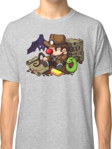 Spelunky guy, bat, snake and map! Classic T-Shirt