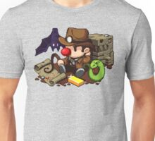 Spelunky guy, bat, snake and map! Unisex T-Shirt