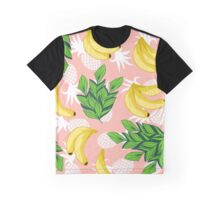 Banana & pineapple pattern Graphic T-Shirt
