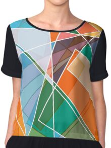 Retro styled abstract Chiffon Top