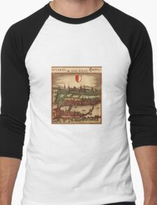 Luzern Vintage map.Geography Switzerland ,city view,building,political,Lithography,historical fashion,geo design,Cartography,Country,Science,history,urban Men's Baseball ¾ T-Shirt