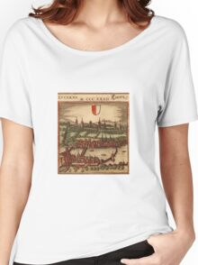 Luzern Vintage map.Geography Switzerland ,city view,building,political,Lithography,historical fashion,geo design,Cartography,Country,Science,history,urban Women's Relaxed Fit T-Shirt