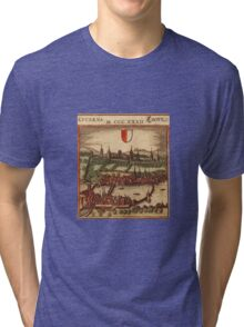 Luzern Vintage map.Geography Switzerland ,city view,building,political,Lithography,historical fashion,geo design,Cartography,Country,Science,history,urban Tri-blend T-Shirt