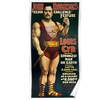 Strongest Man On Earth - Vintage Strongman Poster