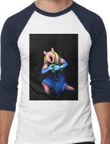 Miss Piggy Devouring Kermit Men's Baseball ¾ T-Shirt
