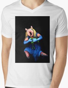 Miss Piggy Devouring Kermit Mens V-Neck T-Shirt