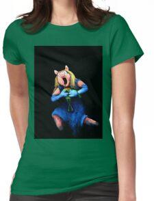 Miss Piggy Devouring Kermit Womens Fitted T-Shirt