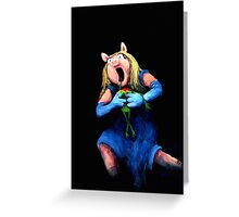 Miss Piggy Devouring Kermit Greeting Card