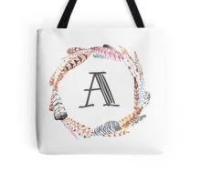 Feather Monogram  Tote Bag