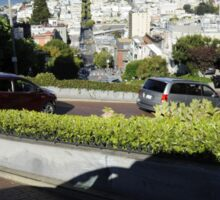Traveling Down Lombard Street Sticker