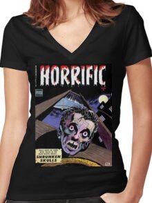 Horrific Tales comic cover Women's Fitted V-Neck T-Shirt